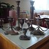 vintage vase and candle holder