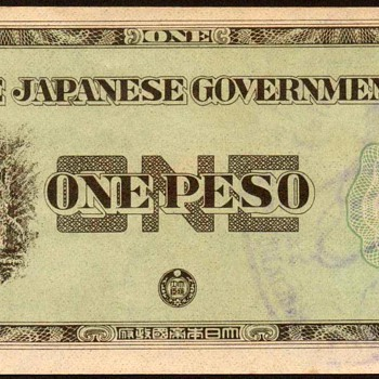1942 - Philippines - (1) Peso (Japanese Invasion Currency)