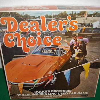 1972 Parker Brothers, Dealer&#039;s Choice board game. 
