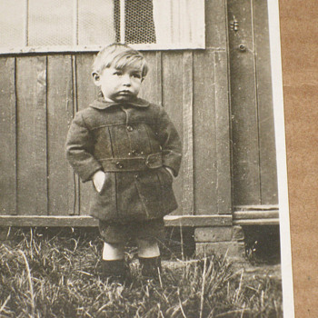 VINTAGE POOR  LITTLE BOY , REAL PHOTO POSTCARD C.1911 TEARJERKER!