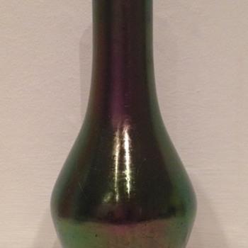 Rindskopf iridescent amethyst glatt vase hallmarked Birmingham 1903