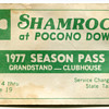 1977 Admission Ticket, Pocono Downs, Wilkes-Barre, PA