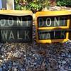 Vintage New York City pedestrian signals