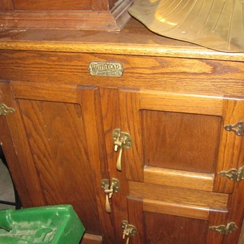 antique ice chests, china cabinet, large jewerly box with key
