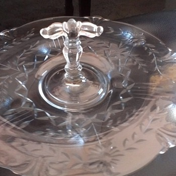 Depression Glass (serving platter) - Glassware
