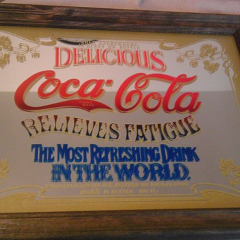 Coca-Cola Mirror Sign