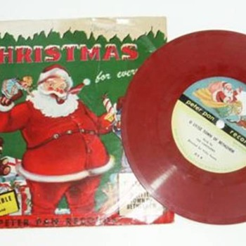 PETER PAN - Vintage Children's Xmas Colored LP Records - Christmas