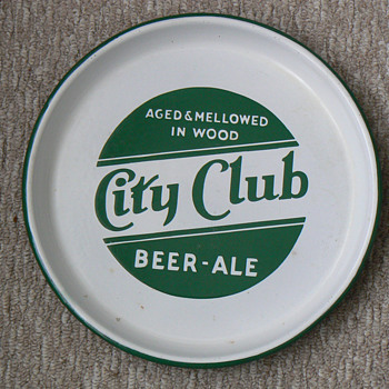 city club beer tray - Breweriana