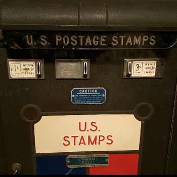 U.S. Postal Stamp Vending Machine by Commercial Controls Corp  - Coin Operated