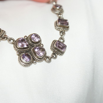 Sterling and Amethyst Bracelet: Craft Project