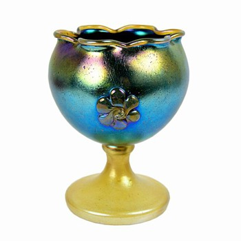 LOETZ  SILBERIRIS  CHALICE - Art Glass