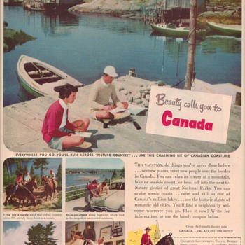 1950 Canada Travel Bureau Advertisement - Advertising
