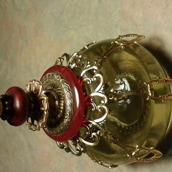 Fancy little miniature oil lamp