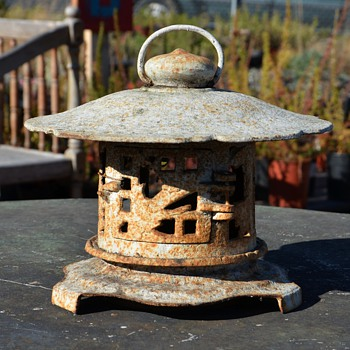 Old Japanese Iron Garden Lantern - Asian