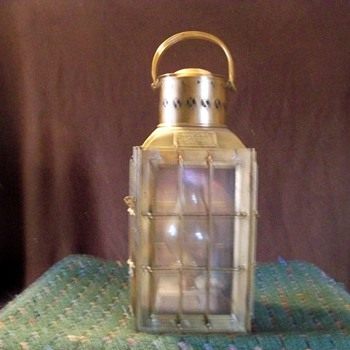 Antique Brass oil lamp - Lamps
