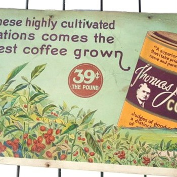 Early 1900&#039;s Thomas J. Webb Coffee Advertisement