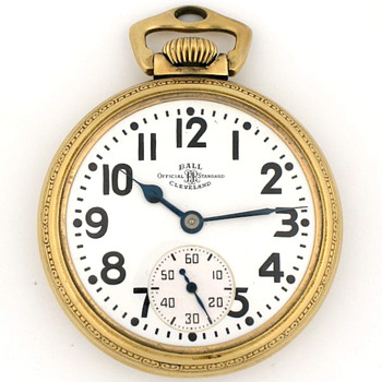 Ball Hamilton 21J 999b Railroad Pocket Watch