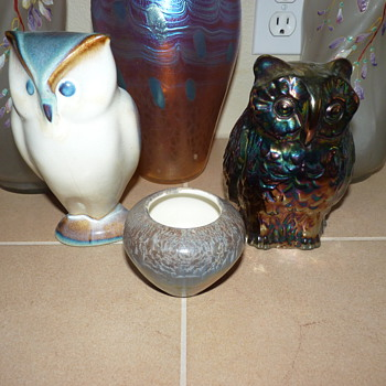 More Owls. Fenton and Goebel.  - Art Glass
