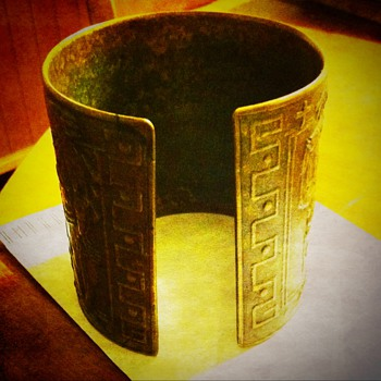 Heavy old Cuff Bracelet