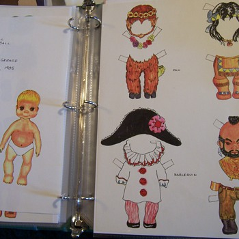 My own hand made paper doll - Paper