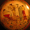 Vanity Jar? With Greek Mythology Transfer Pattern - carnival Prize?