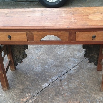 Hand Carved Entry Console Table