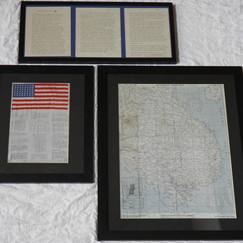 WWII &quot;Blood Chit&quot; and Survival Map - Military and Wartime