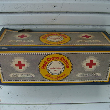 Red Cross Roll Cotton Wound Dressing   1950's