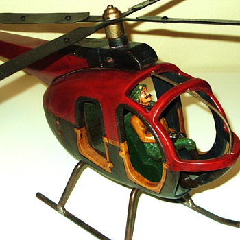 Large Antique (?) Helicopter ... - Model Cars