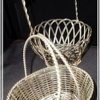 Antique Silver Wire Baskets.