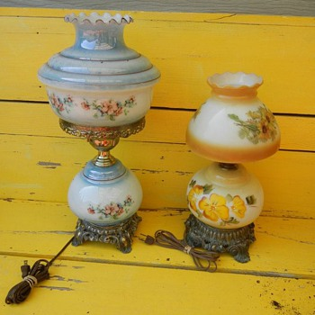 Hurracaine Lamps Gone With the Wind Hand Painted? - Lamps