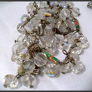 UNKNOWN - Crystal Necklace ( with enamel pieces )