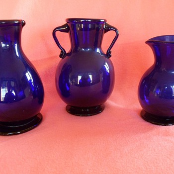 cobalt freeblown glass