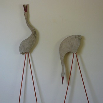 Folk Art Birds Straight from the Garden