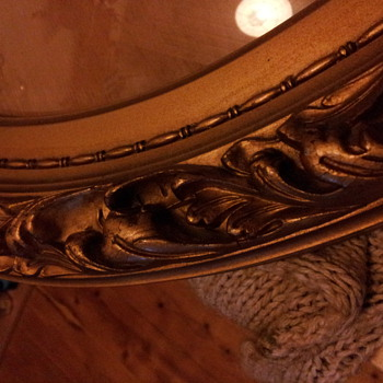 My favorite oval bevelled glass Gilt Frame - Furniture
