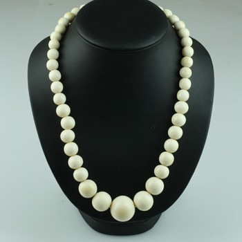 Old ivory necklaces