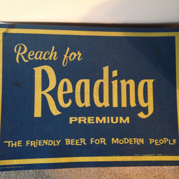 Reading Premium Beer Mat - Breweriana