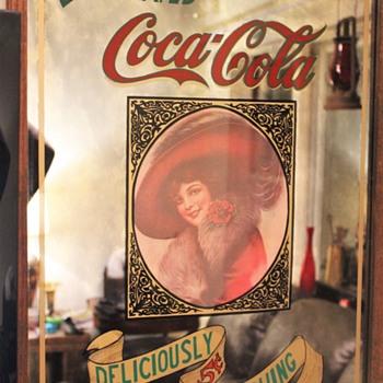 Thrift shop Coca Cola Mirror find.