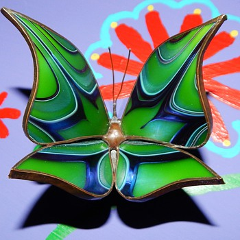 glass art butterfly figurine