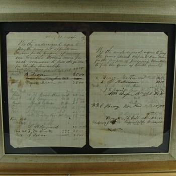 Civil War Union Bounty List. Dated Aug. 31, 1864  - Military and Wartime