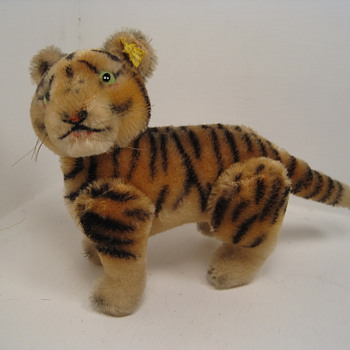 Rare and Unusual Five Ways Jointed Tiger Cub  - Dolls