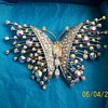 Huge Crystal Butterfly Brooch from Scandi came today :-) a Gift !!