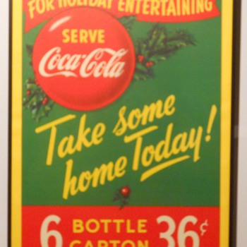 Canadian Cardboard Coca-Cola Signs