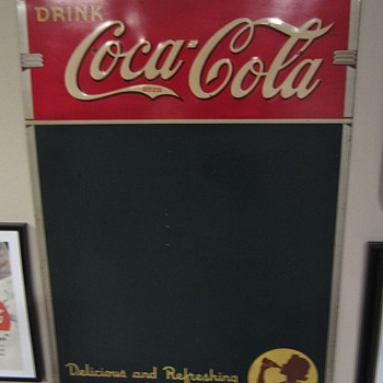 1940 Silhouette Girl menu board/chalk sign - Advertising