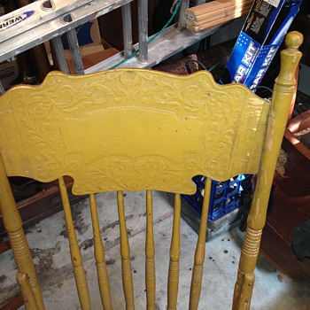 Antique Press Back Chair Restoring