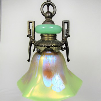 "Loetz Yellow ""Citrongelb"" Phänomen Genre 2/484 ""Medici"" Lamp Shade ca. 1902 - Art Glass"
