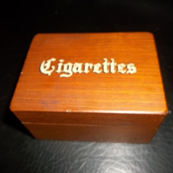faux cigarette decorative box novelty Cornwall Wood Products