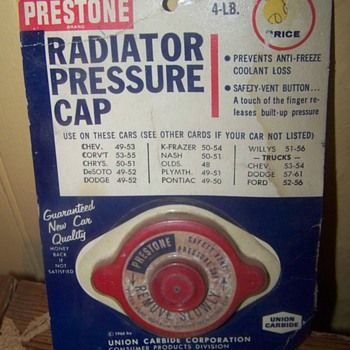 prestone radiator cap - Petroliana