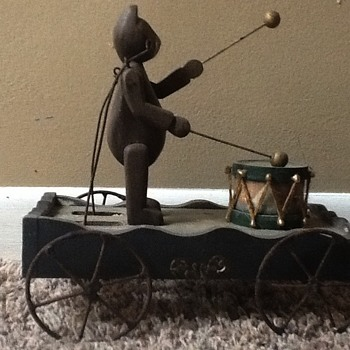 Antique Bear Pull Toy - Toys