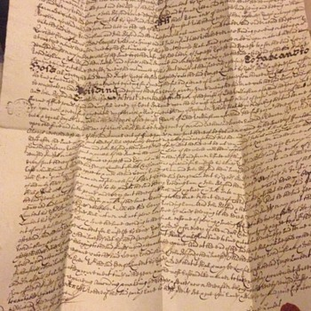 Interesting Old letters in lovely old English 1600's  - Paper